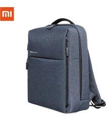 xiaomi mochila minimalista original mochila de poliéster de estilo de vida urbana bolso para portátil - azul oscuro