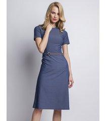 sukienka jeansowa z krótkim rękawem