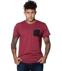 camiseta canal surf cnl vinho com bolso