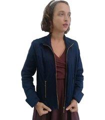 jaqueta bazz sarja azul-marinho