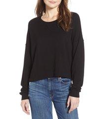 splendid marathon dream sweatshirt, size x-large in black at nordstrom