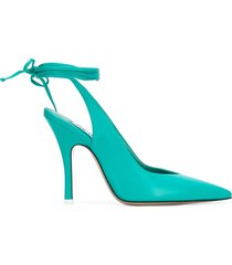 the attico ankle tie pumps - green