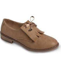 zapato tipo mocasin cinta - beige