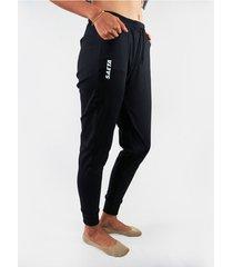 pantalon jogger femenino - negro saeta