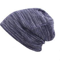 berretto da donna in cotone da esterno berretto da baseball in colore chiaro cappello a elastico a strisce in maglia di colore puro