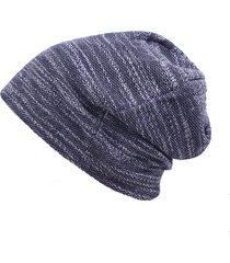 cappellino da esterno in cotone da donna in cotone da uomo beanie cappello in pura cotone elasticizzato a righe a maglia