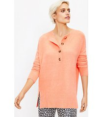 loft lou & grey henley tunic sweater