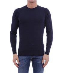 john smedley blue sweater in merino wool