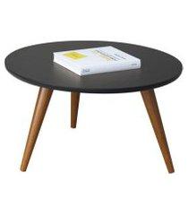 mesa de centro com pés palito sorelle preto - hb móveis