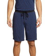 men's daniel buchler space dye stretch cotton & modal pajama shorts