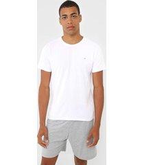 pijama malwee liberta logo branco/cinza - branco - masculino - algodã£o - dafiti