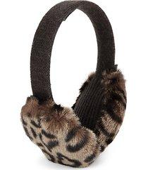 leopard faux fur earmuffs