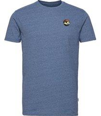 mountain tee t-shirts short-sleeved blå kronstadt