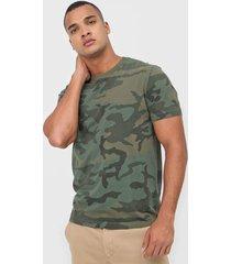 camiseta calvin klein camuflada verde