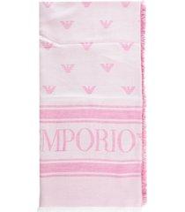 emporio armani modal polyester square scarf 138 x 138