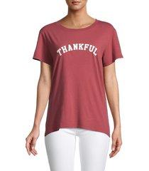 sub urban riot women's thankful loose t-shirt - cedar - size l