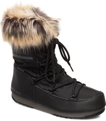 mb monaco low wp 2 shoes boots ankle boots ankle boots flat heel svart moon boot