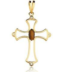 pingente toque de joia crucifixo grande