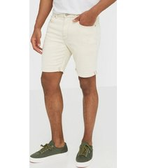 selected homme slhalex 6117 off white st denim sho shorts vit