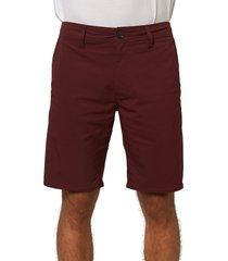 men's o'neill stockton hybrid water resistant swim shorts, size 30 - burgundy