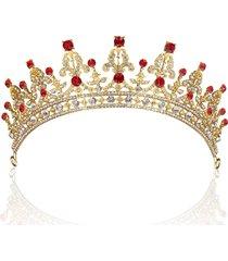 anello nuziale del reggiseno del rhinestone di cristallo della sposa dell'annata della sposa degli accessori dei capelli queentiara