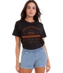 camiseta basica my t-shirt california 1850 preto