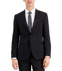 hugo men's regular-fit black tuxedo jacket