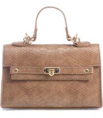 like dreams vegan leather snakeskin top handle satchel