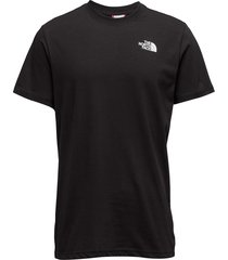 m s/s red box tee t-shirts short-sleeved svart the north face