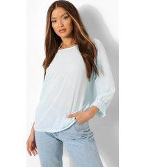 pastel blouse met stippen en mouwe strikjes, powder blue