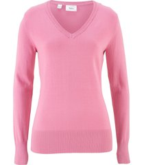 maglione con scollo a v (rosa) - bpc bonprix collection