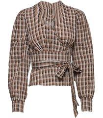 maeci blouse lange mouwen bruin baum und pferdgarten