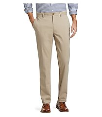 1905 collection tailored fit flat front chino pants by jos. a. bank