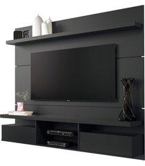painel home suspenso 1.8 para tv atã© 55 sala de estar lennon preto - gran belo - preto - dafiti
