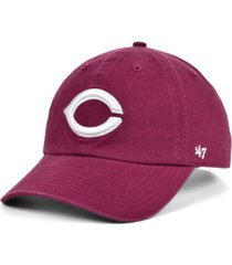 '47 brand cincinnati reds cardinal and white clean up cap