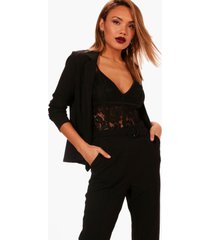 edge to edge peplum blazer