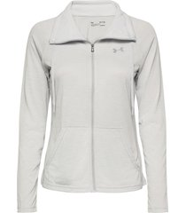 tech full zip twist sweat-shirt tröja grå under armour