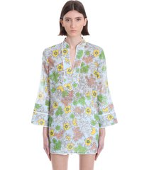 tory burch blouse in cyan cotton