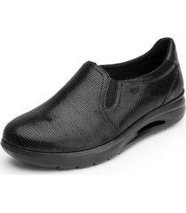 zapato mujer fusili negro flexi
