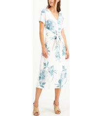 alfani printed tie-front dress, created for macy's