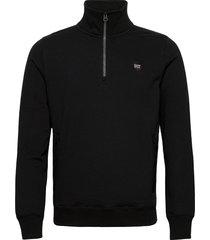 collective half zip track knitwear half zip jumpers svart superdry