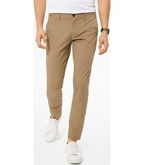 mk pantalone chino skinny in cotone stretch - cachi (naturale) - michael kors
