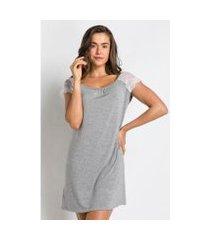 camisola malha leve detalhe renda - slow acuo feminina