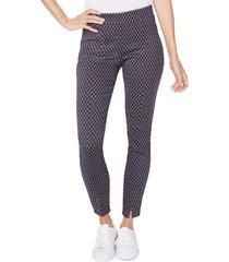 women's nydj front slit geo pattern leggings