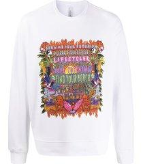 neil barrett find your beach print sweatshirt - white
