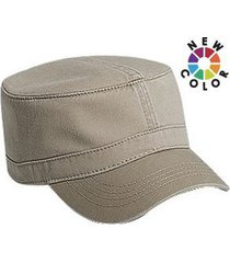otto superior garment washed cotton twill military cap (color-dk. khaki)
