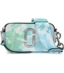 the marc jacobs the tie dye snapshot blue and white shoulder bag