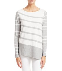 collection asymmetric stripe tunic