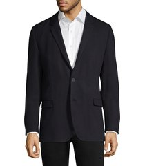 hugo men's slim-fit notched lapel sport jacket - navy - size 36 r
