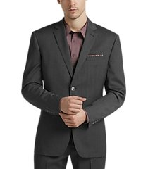 perry ellis premium charcoal slim fit suit